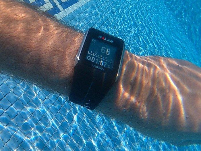Reloj debajo del agua