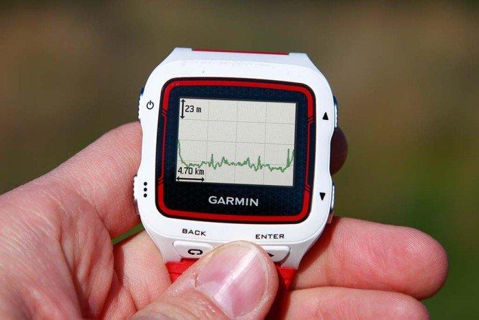 Garmin Forerunner 920xt - Perfil de altimetría