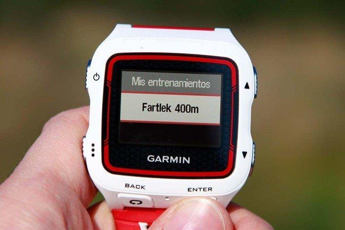 Garmin 920xt - Entrenamiento fartlek