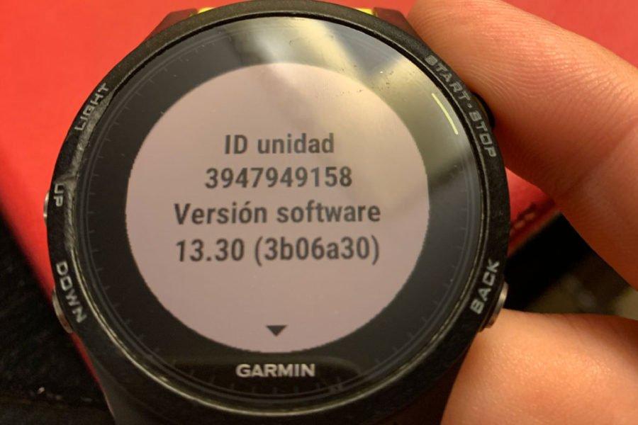 Garmin Forerunner 935 trámite garantía